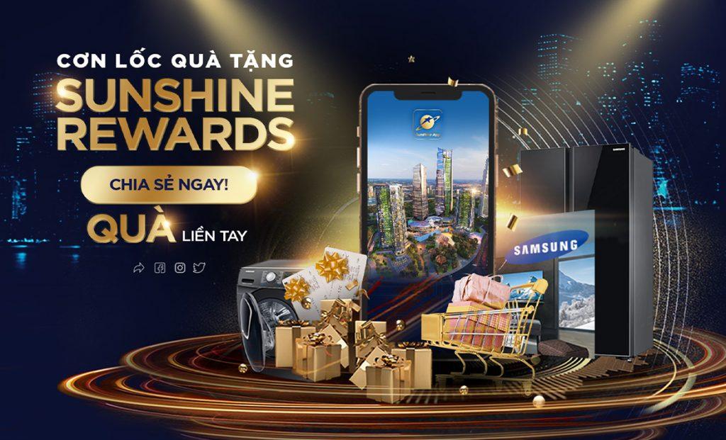 """Cơn lốc quà tặng cực sốc với Sunshine Rewards """"Tích điểm – Đồng hành cùng Sunshine App"""""""